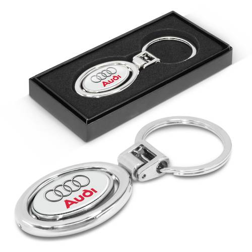 Spinning Metal Key Ring