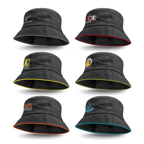 Bondi Bucket Hat - Coloured Sandwich Trim