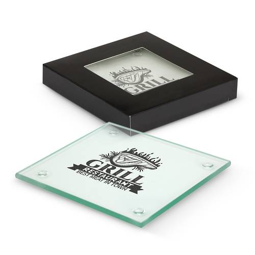 Venice Glass Coaster Set of 4 - Square