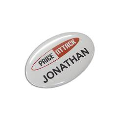 Oval Button Badge  - 65mm x 45mm