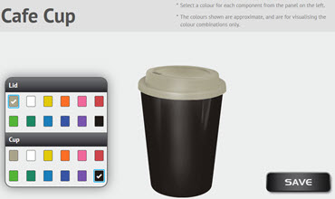 Cafe Cup - Colour Configurator