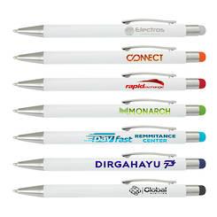 Lancer Stylus Pen - White Barrel